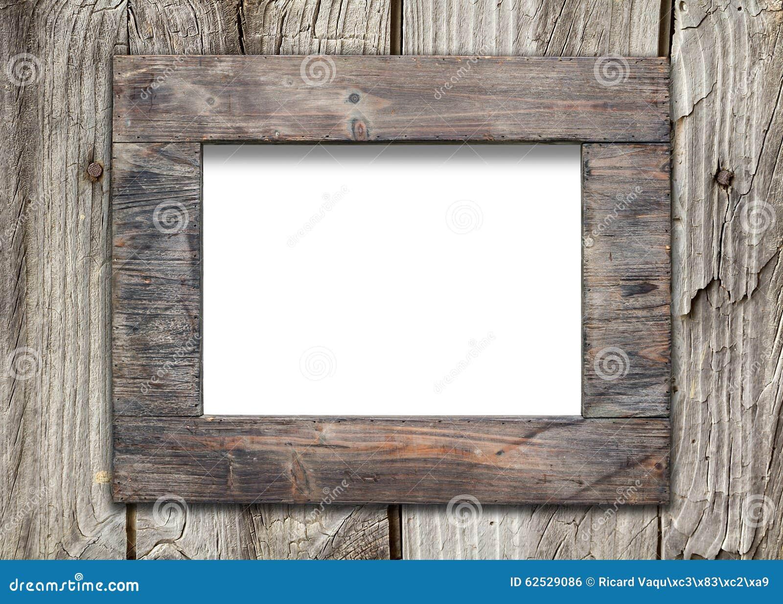 老木表面上的空的框架