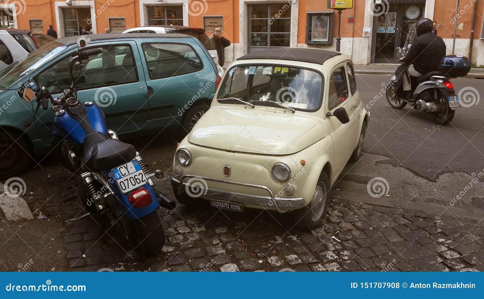 老汽车在罗马,意大利