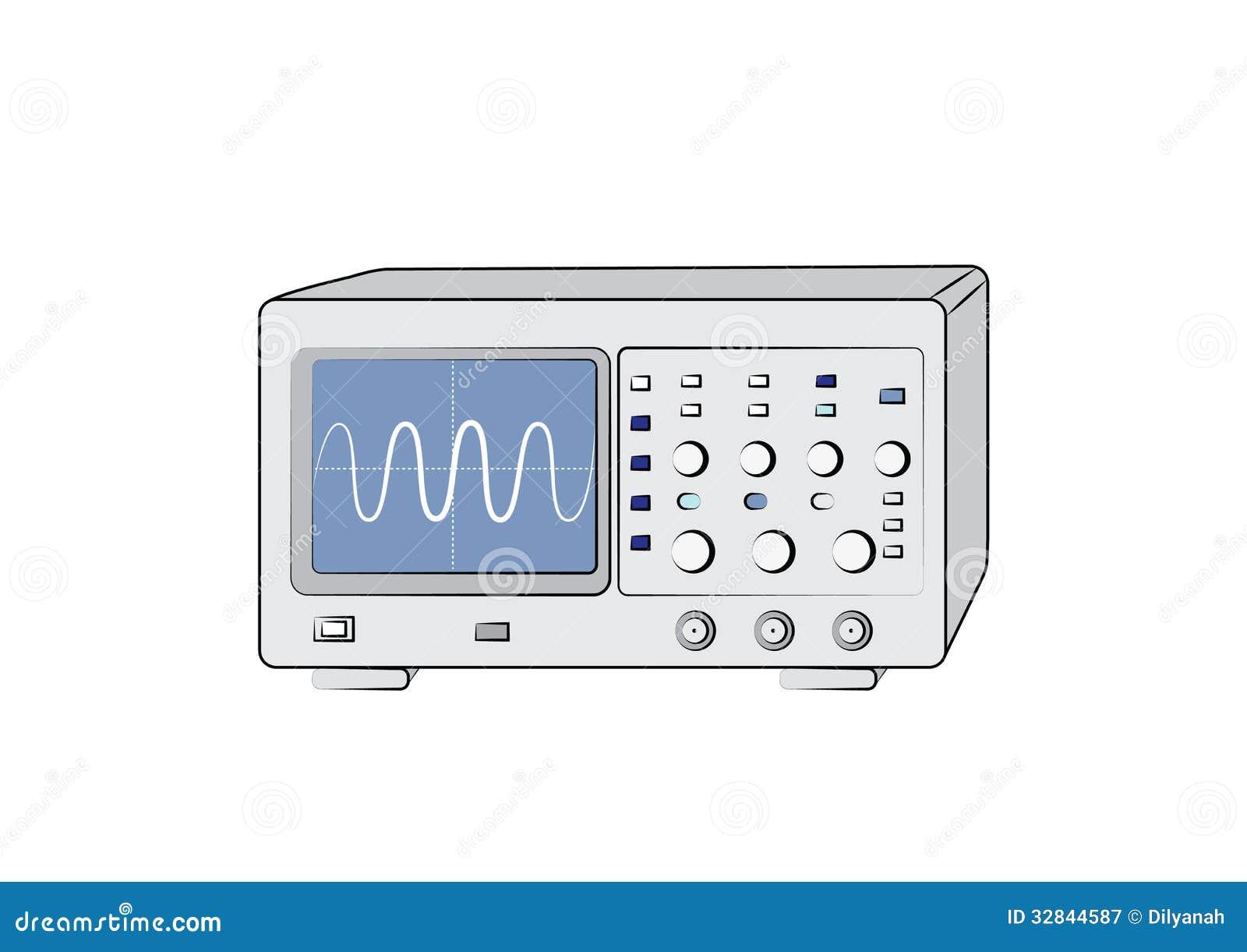 电子示波器_老电子示波器传染媒介图象.