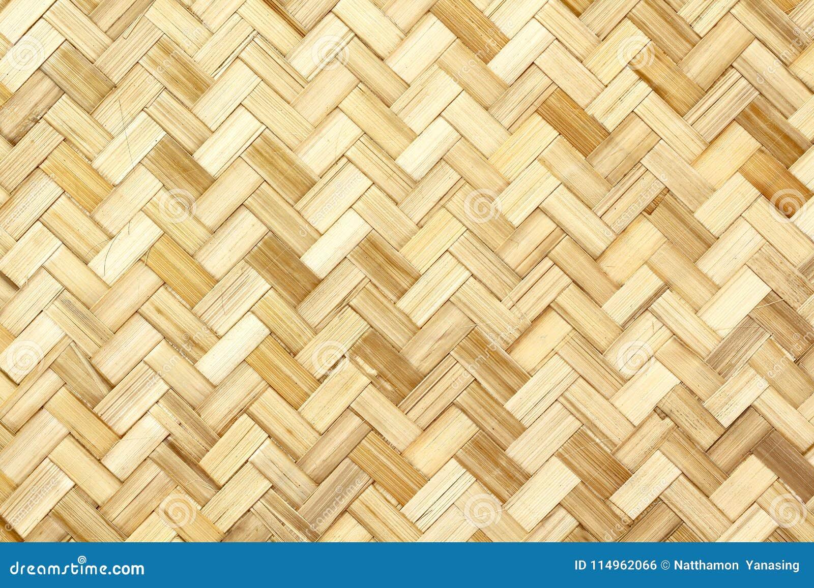 老竹编织的样式,背景的被编织的藤条席子纹理