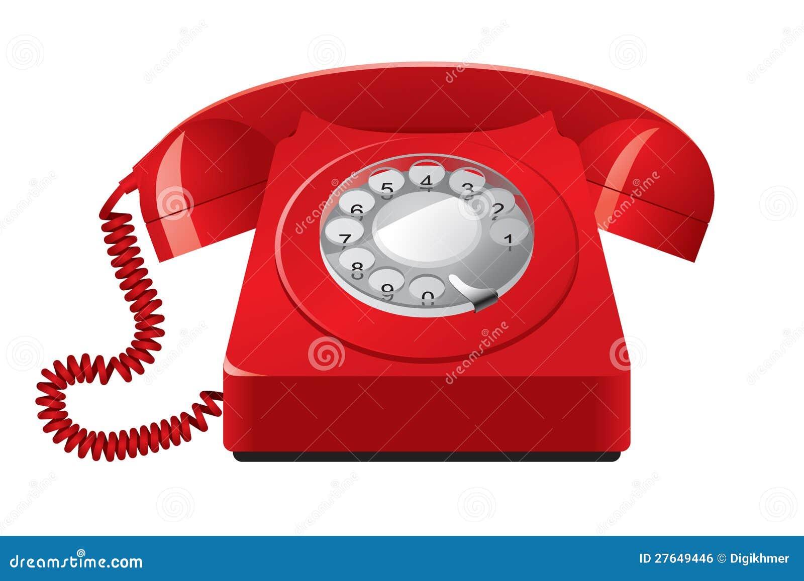 老红色电话