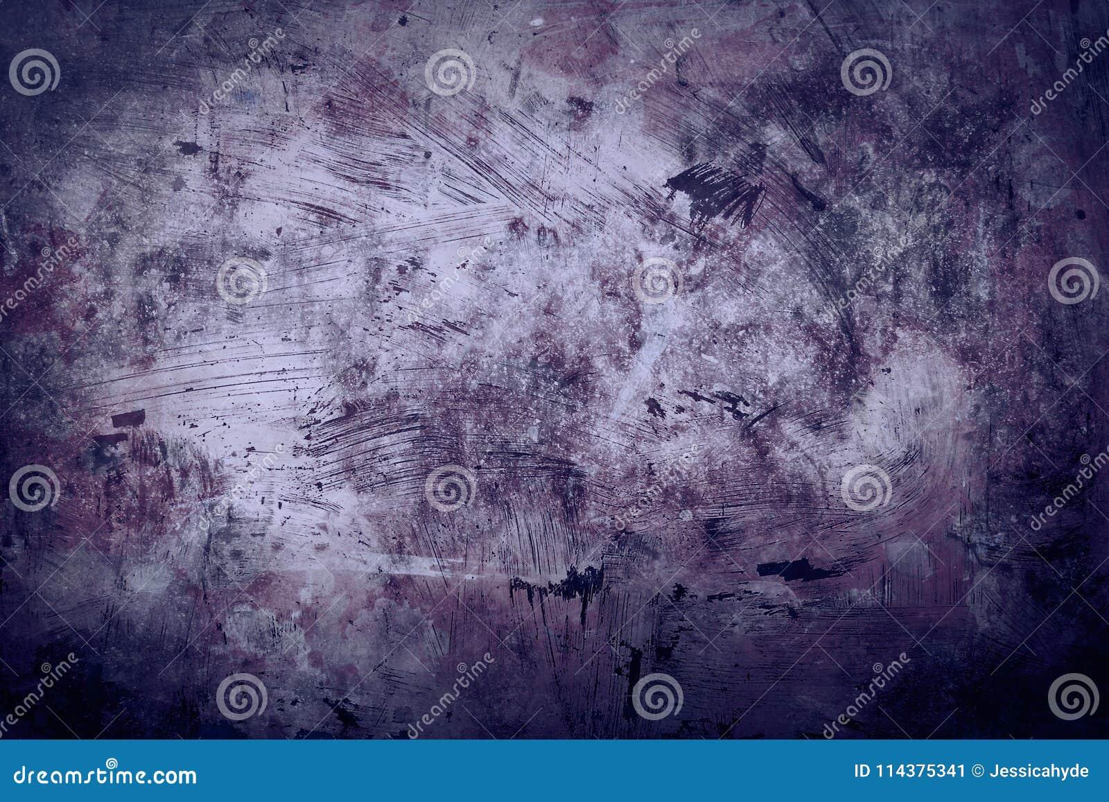 老脏的紫色墙壁背景