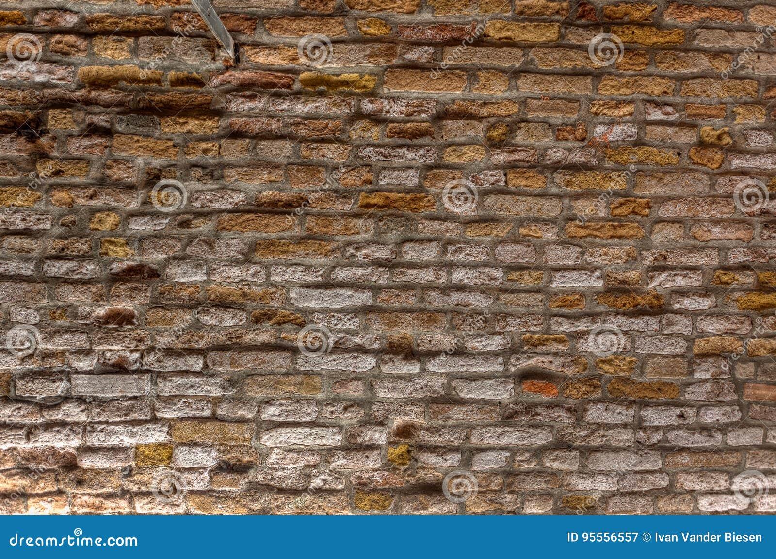 老葡萄酒砖墙纹理背景,威尼斯,意大利