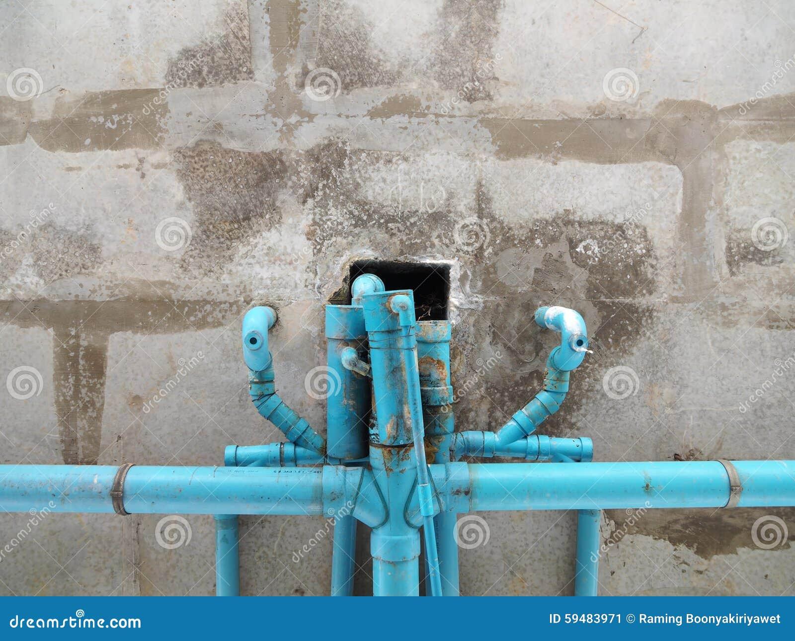 老蓝色管道