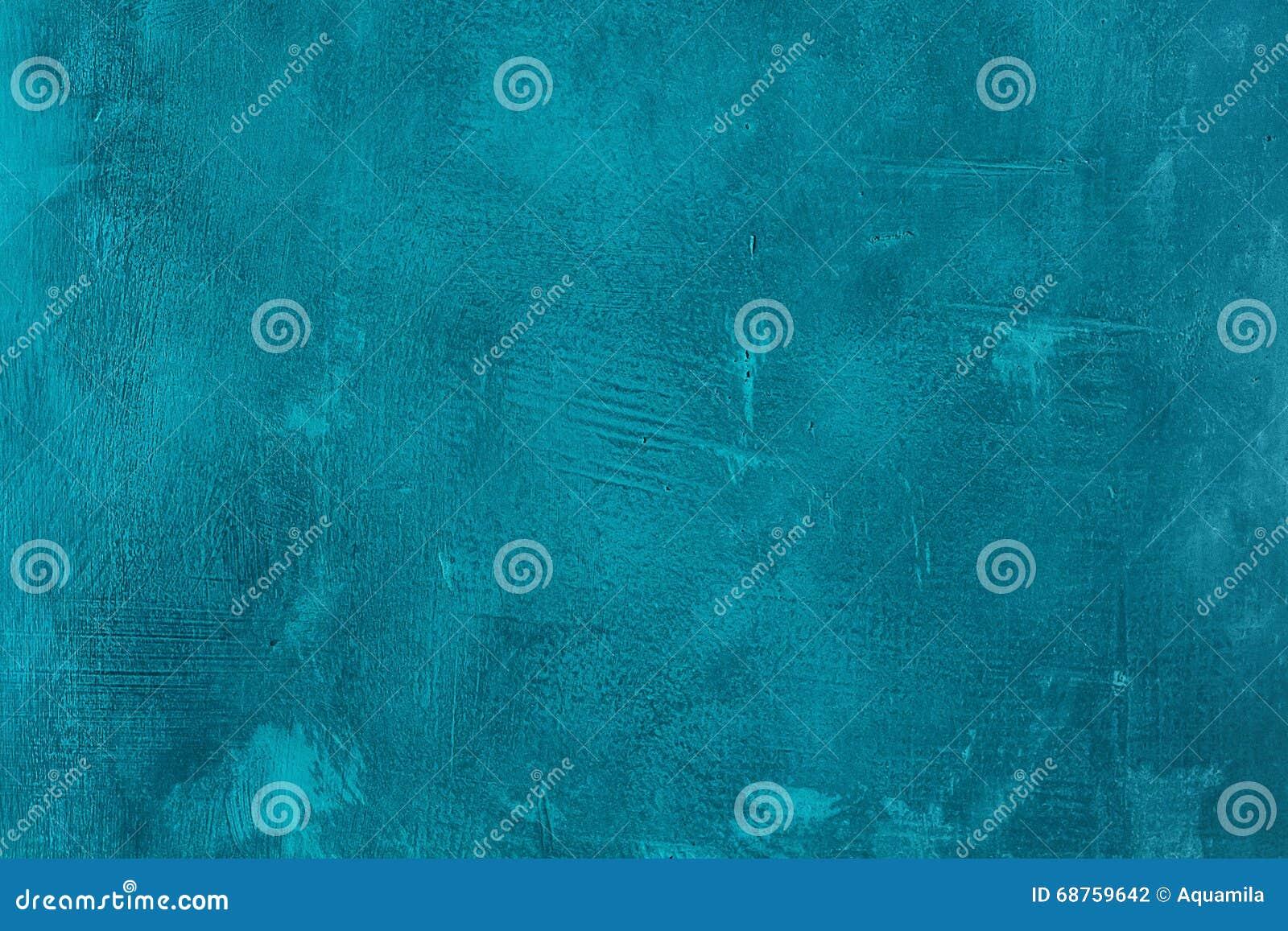 老被抓的和破裂的被绘的蓝色墙壁 抽象织地不很细绿松石背景 空的模板