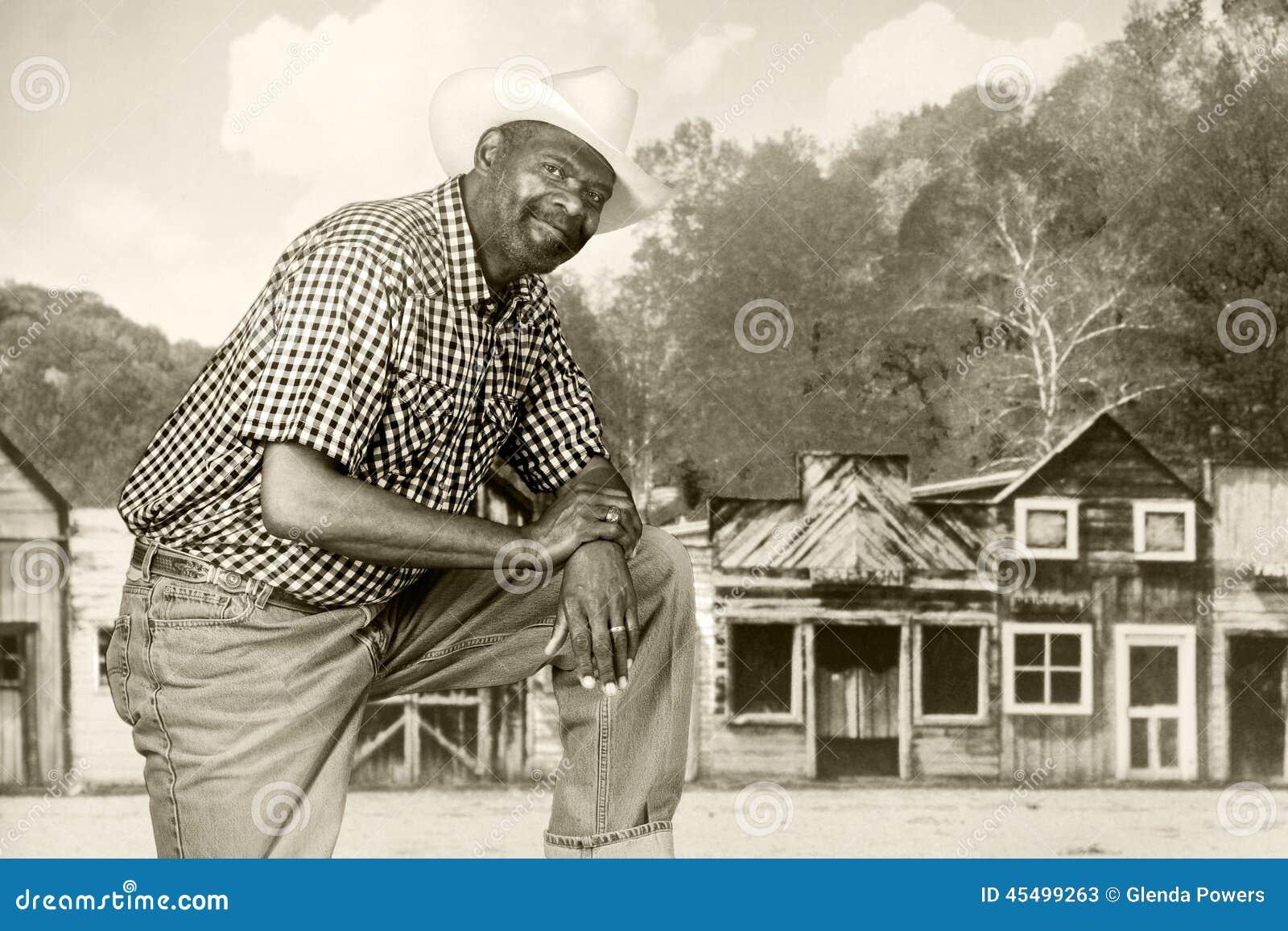 老西部的黑人牛仔
