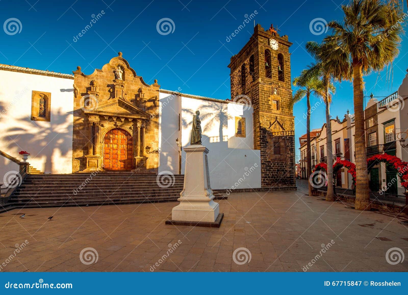 老镇圣克鲁斯de la的帕尔马中心广场