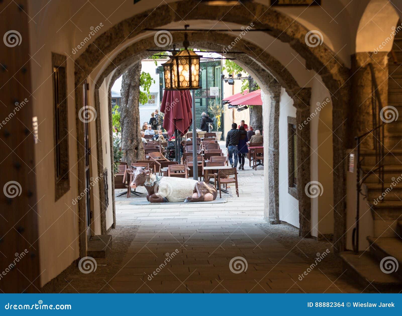 老镇在萨尔茨堡奥地利