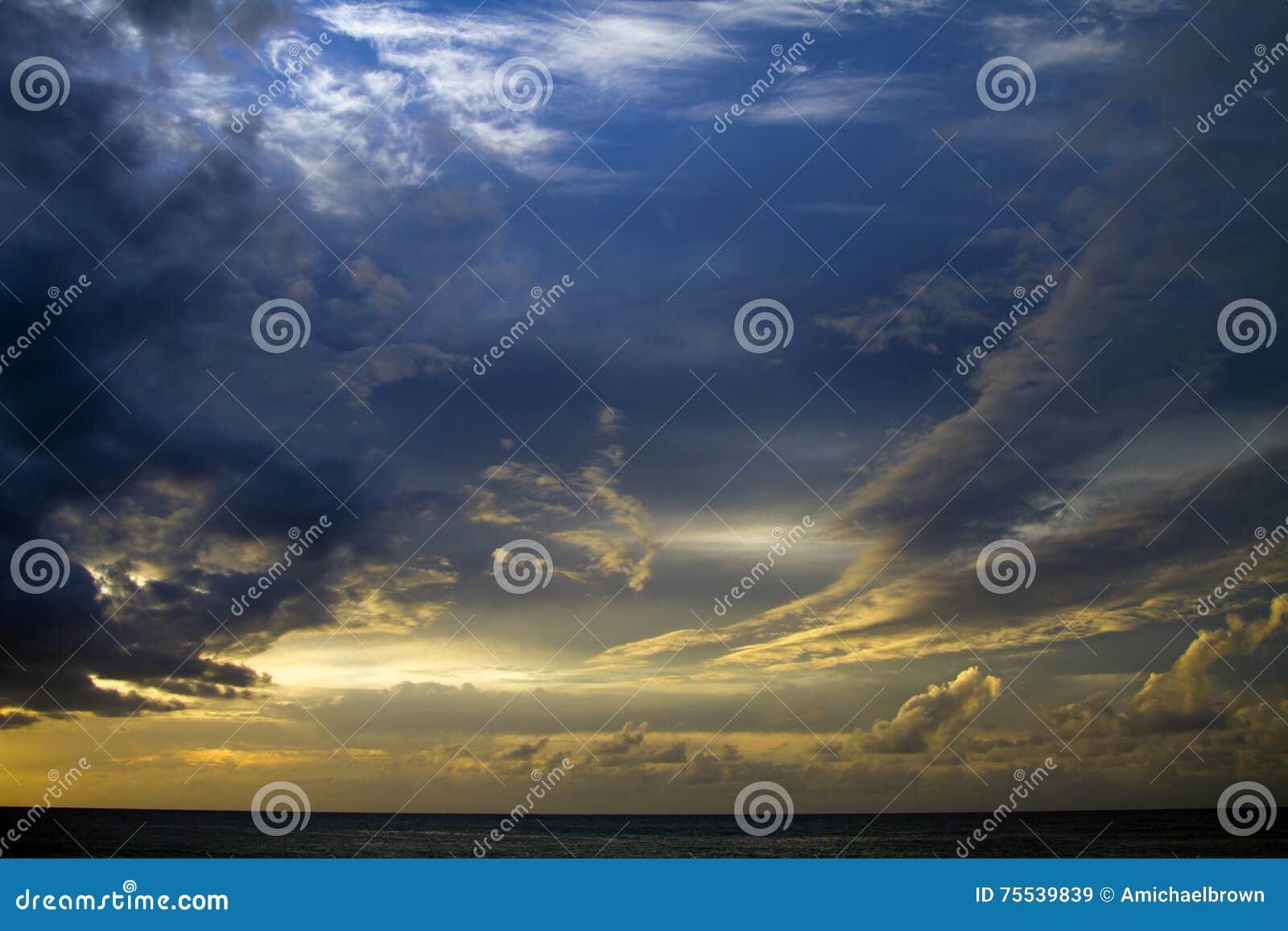 考艾岛,夏威夷日落