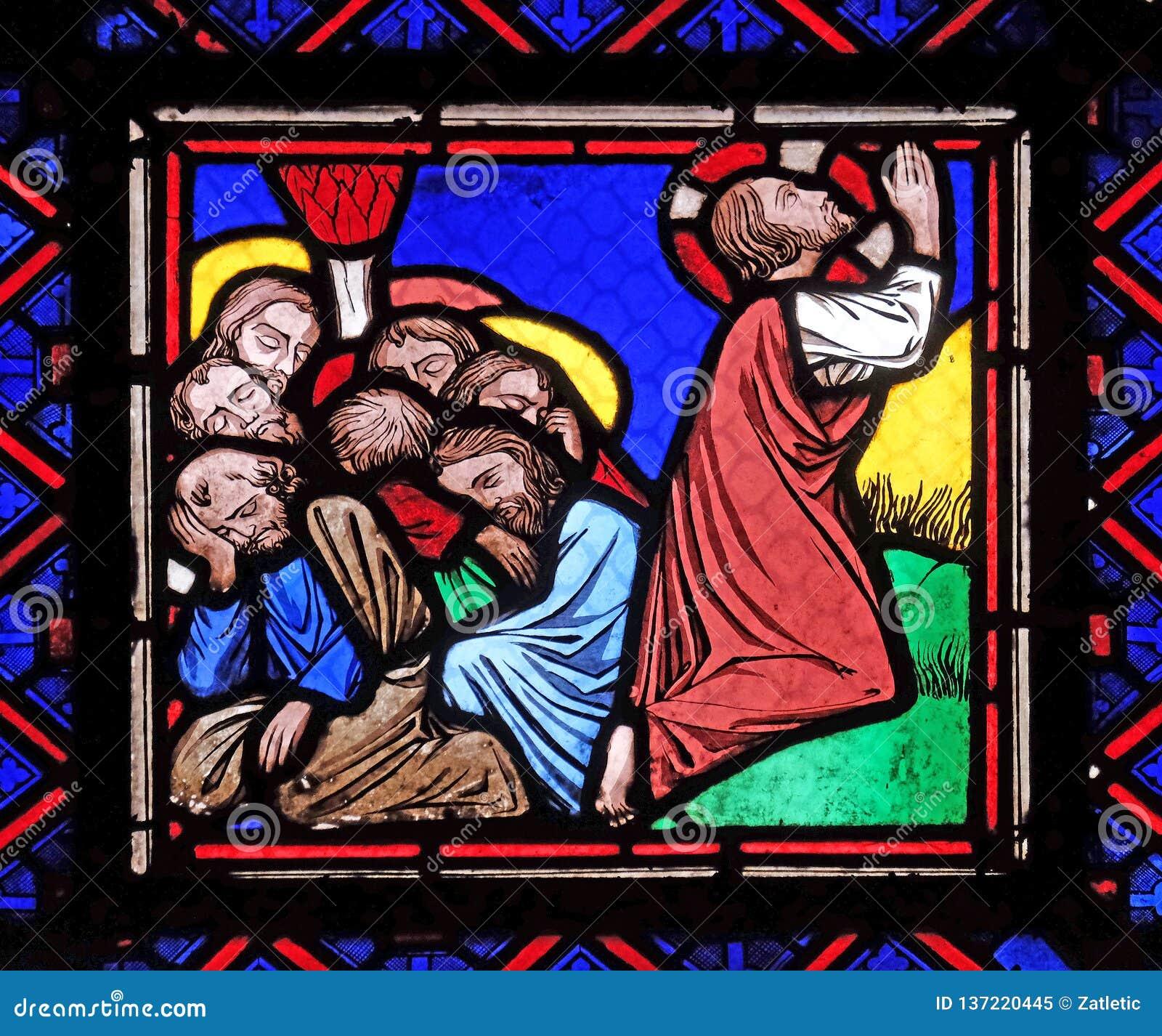 耶稣和他的门徒橄榄山的
