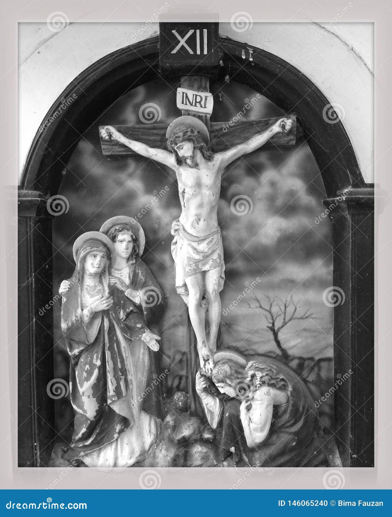 耶稣在十字架上钉死