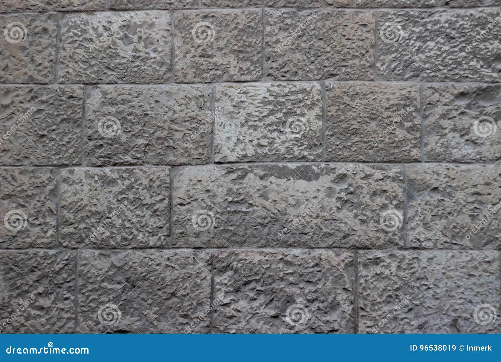 耶路撒冷石头纹理米黄和灰色块老墙壁