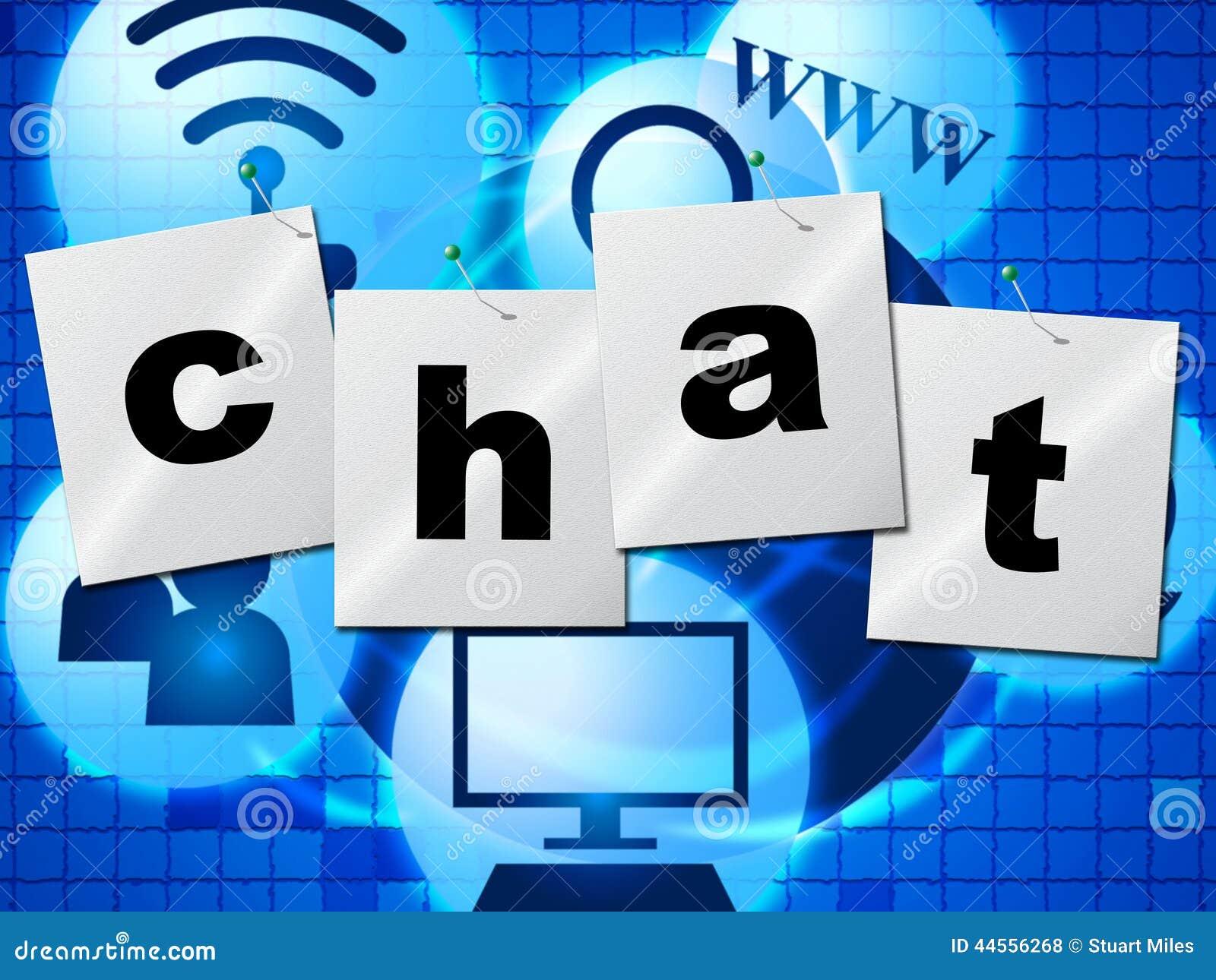 聊天的闲谈代表键入的电话并且沟通