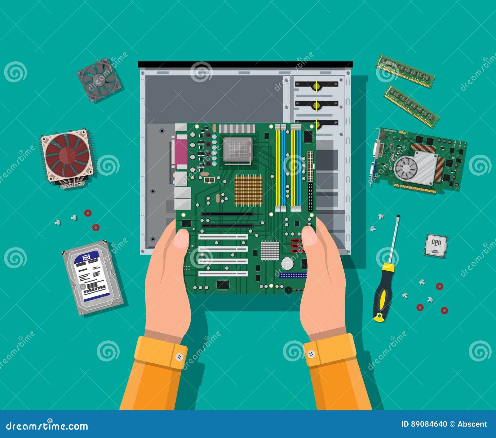 聚集的个人计算机 个人计算机的硬件