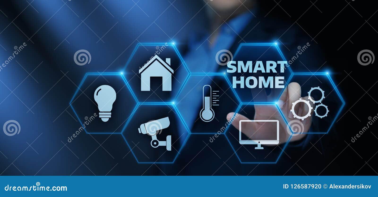 聪明的家庭自动化控制系统 创新技术互联网概念