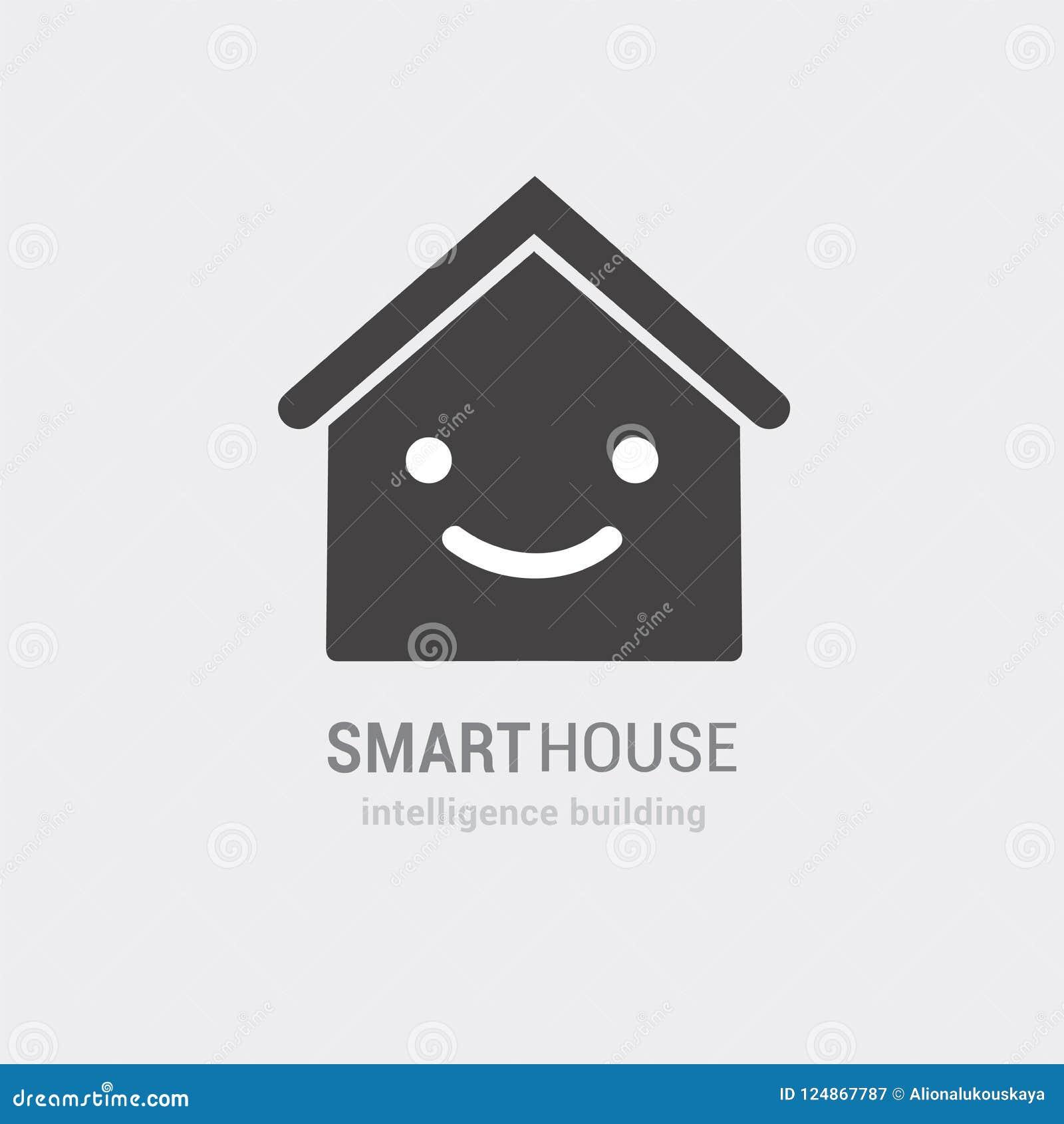 聪明的房子传染媒介象概念性视觉  智力大厦咨询和被处理的服务 隔绝手拉