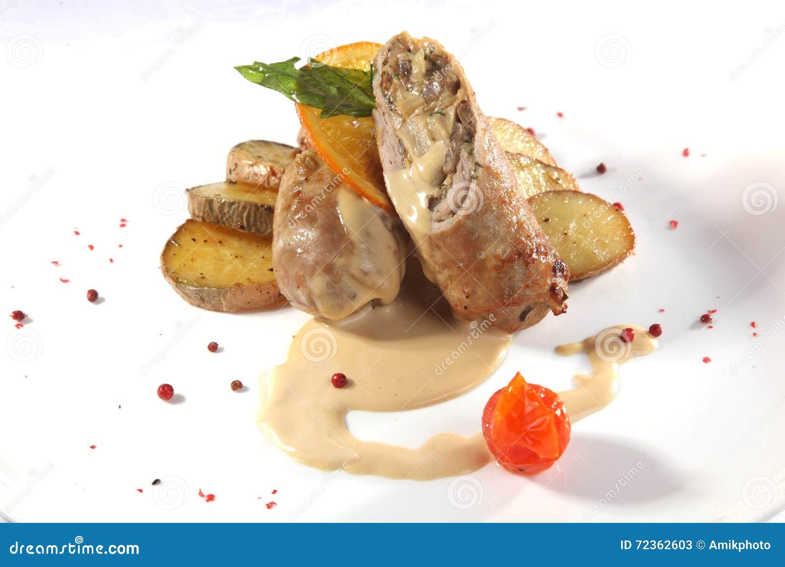 肉卷用调味汁和葱