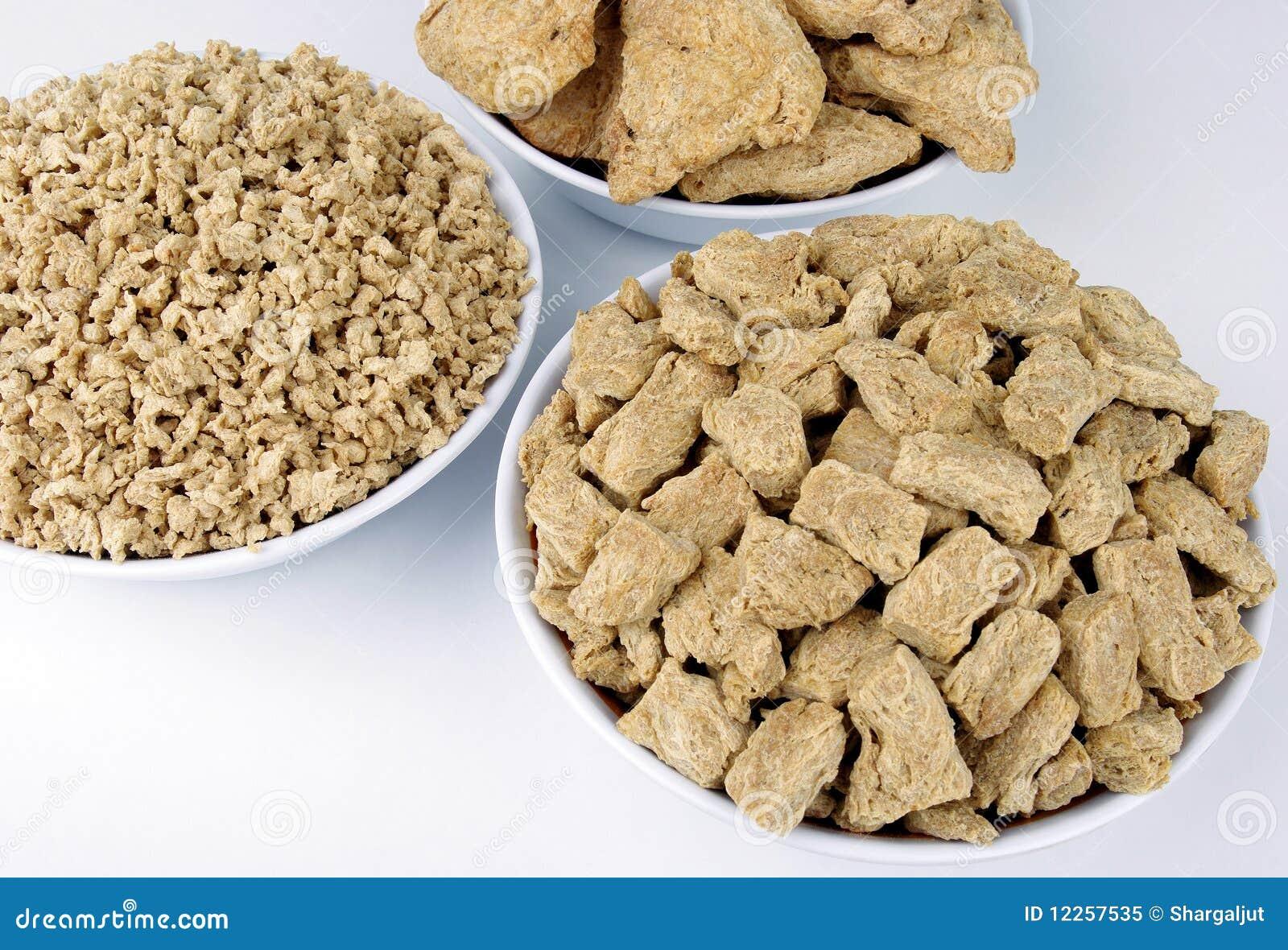 肉被构造的大豆替代项