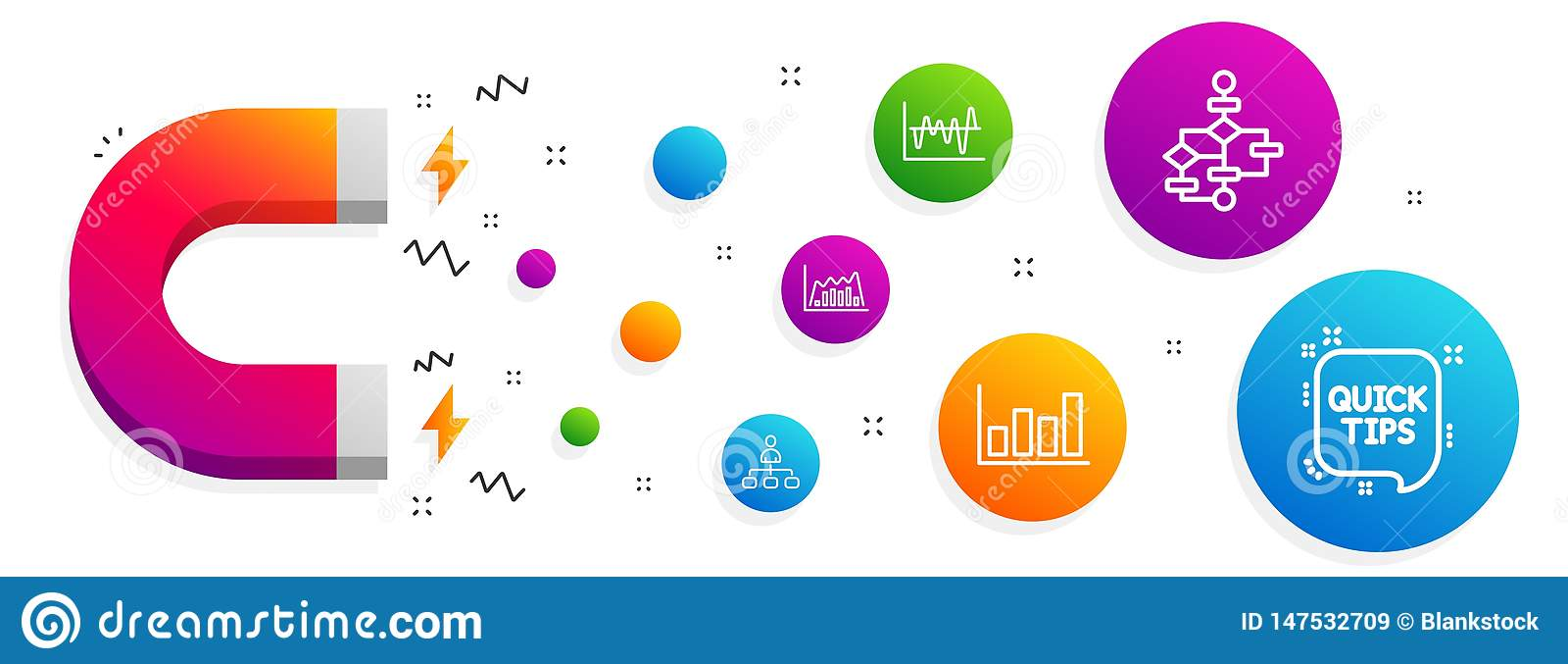 股票分析,管理和结构图象集合 报告图、Infographic图表和快的技巧标志 ??