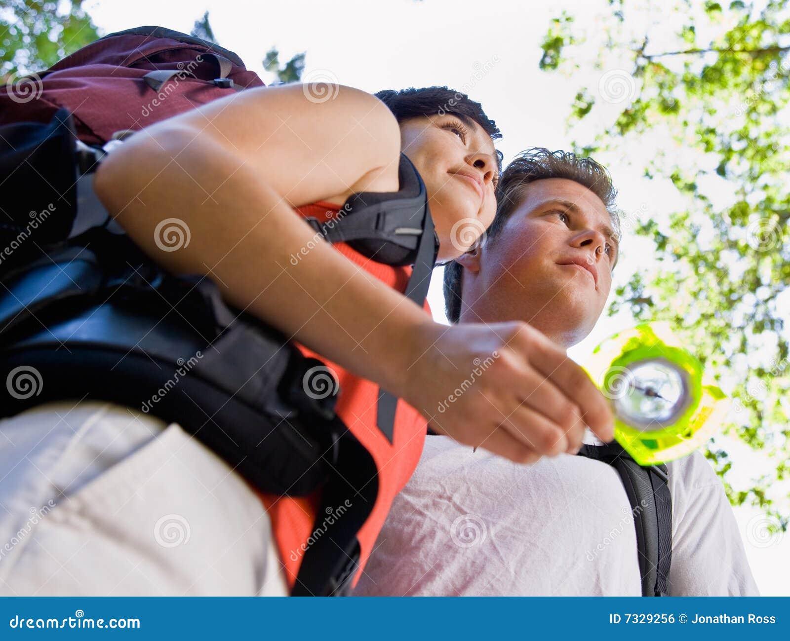 背包指南针夫妇