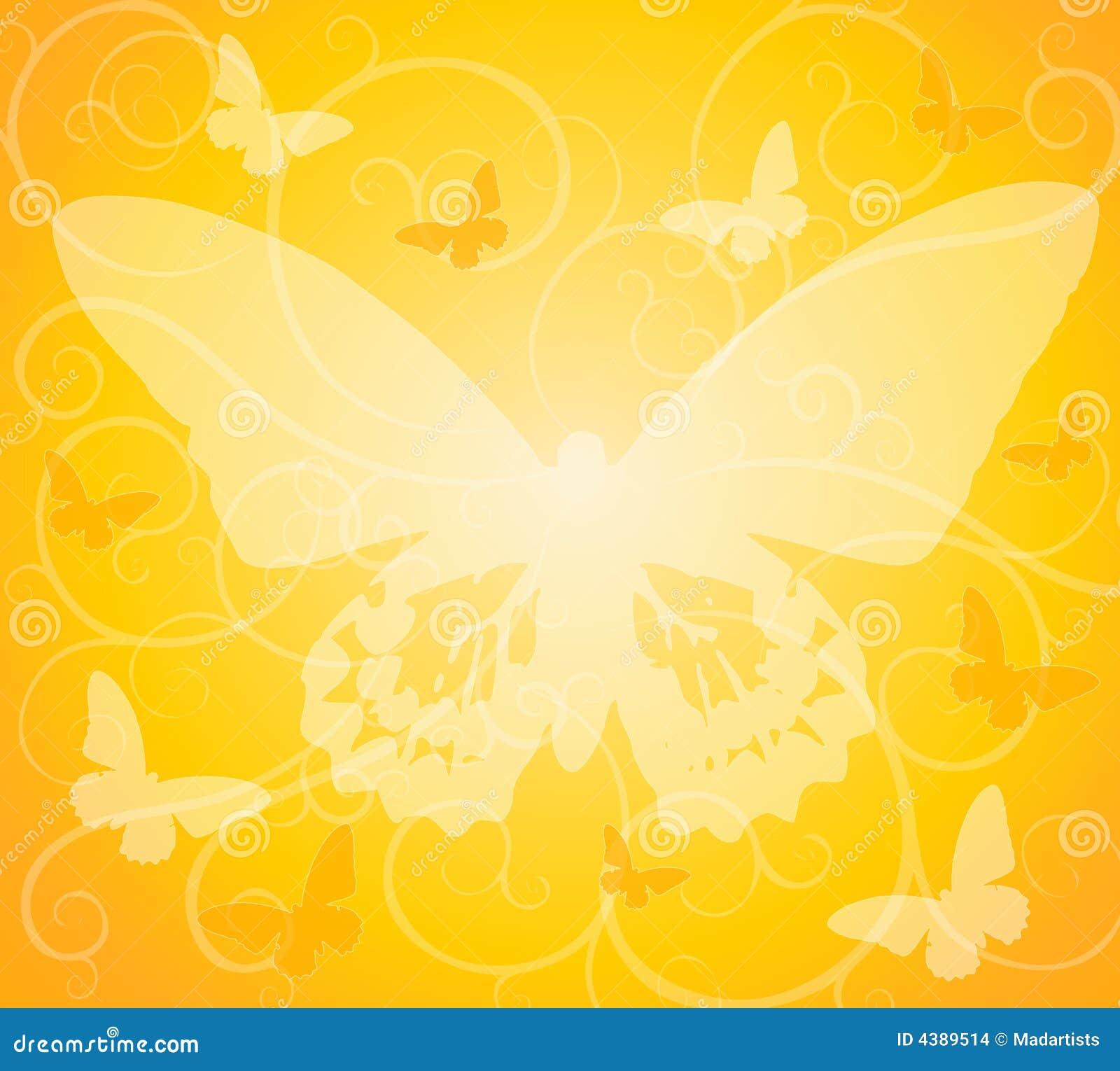 背景不透明蝴蝶的金子
