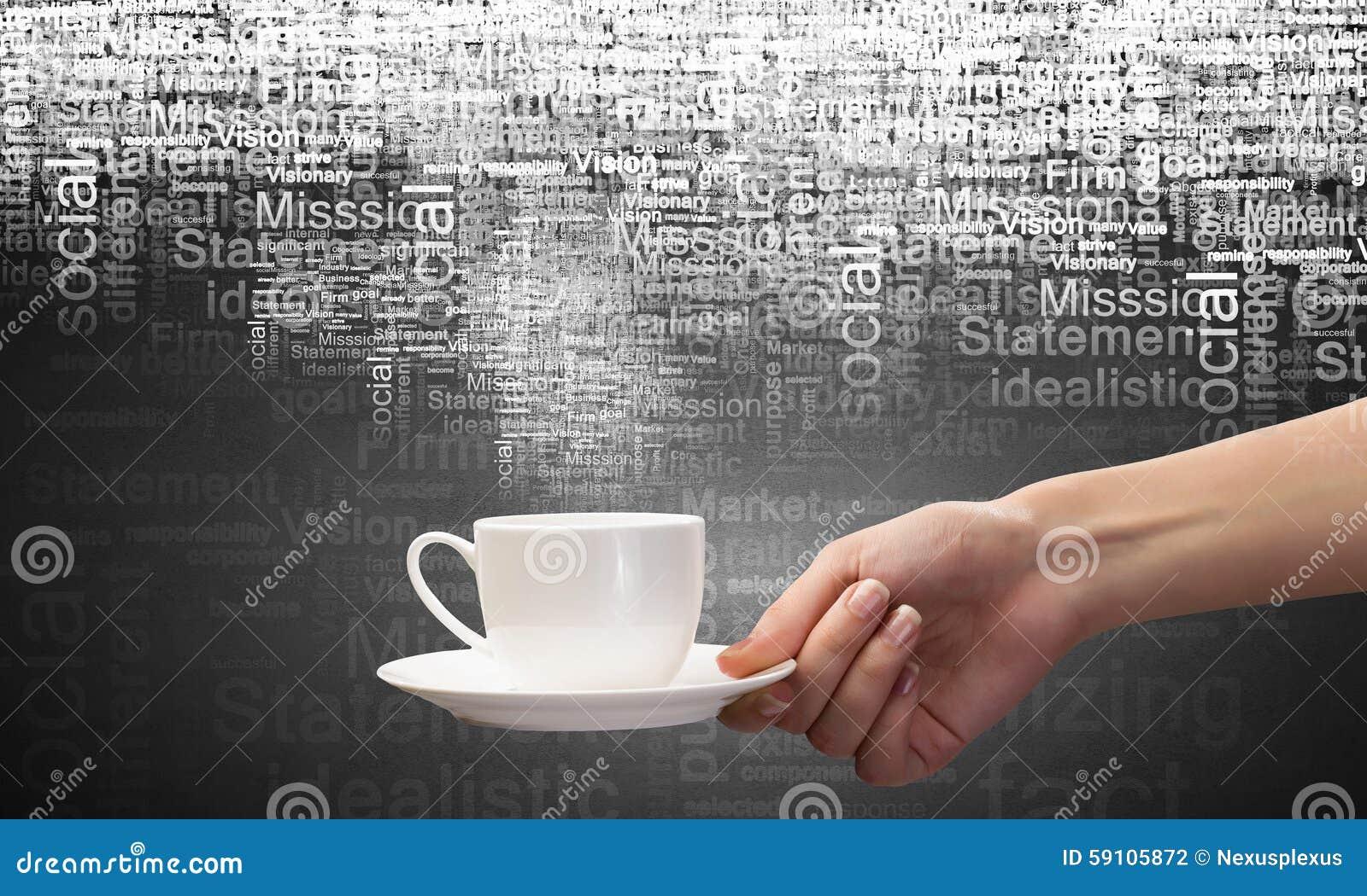 背景中断咖啡新月形面包杯子甜点