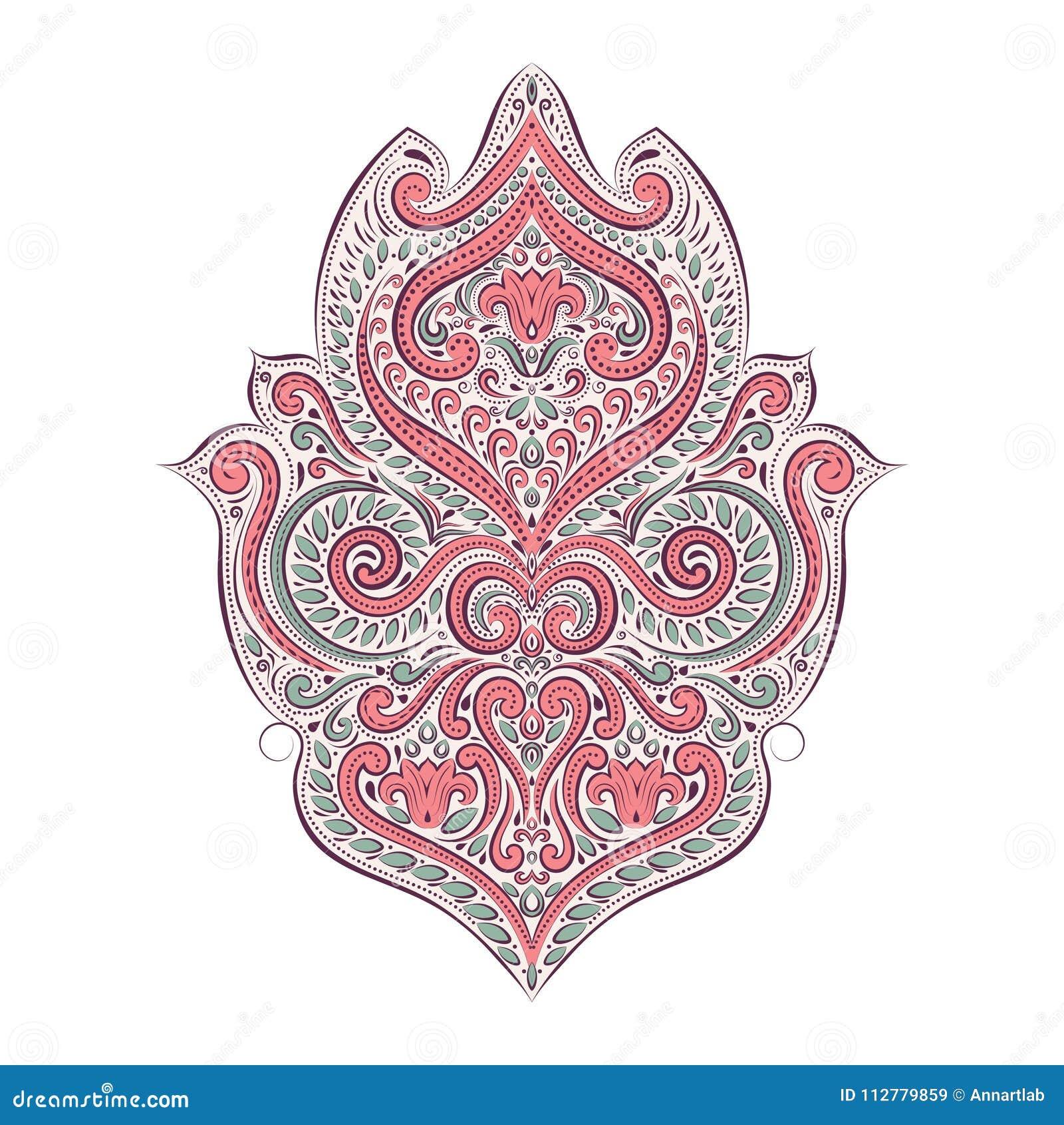 背景五颜六色的幻想花卉异常 葡萄酒装饰装饰品元素 花束弓形象花纹花样无缝小 传统,阿拉伯,土耳其,种族,印地安主题