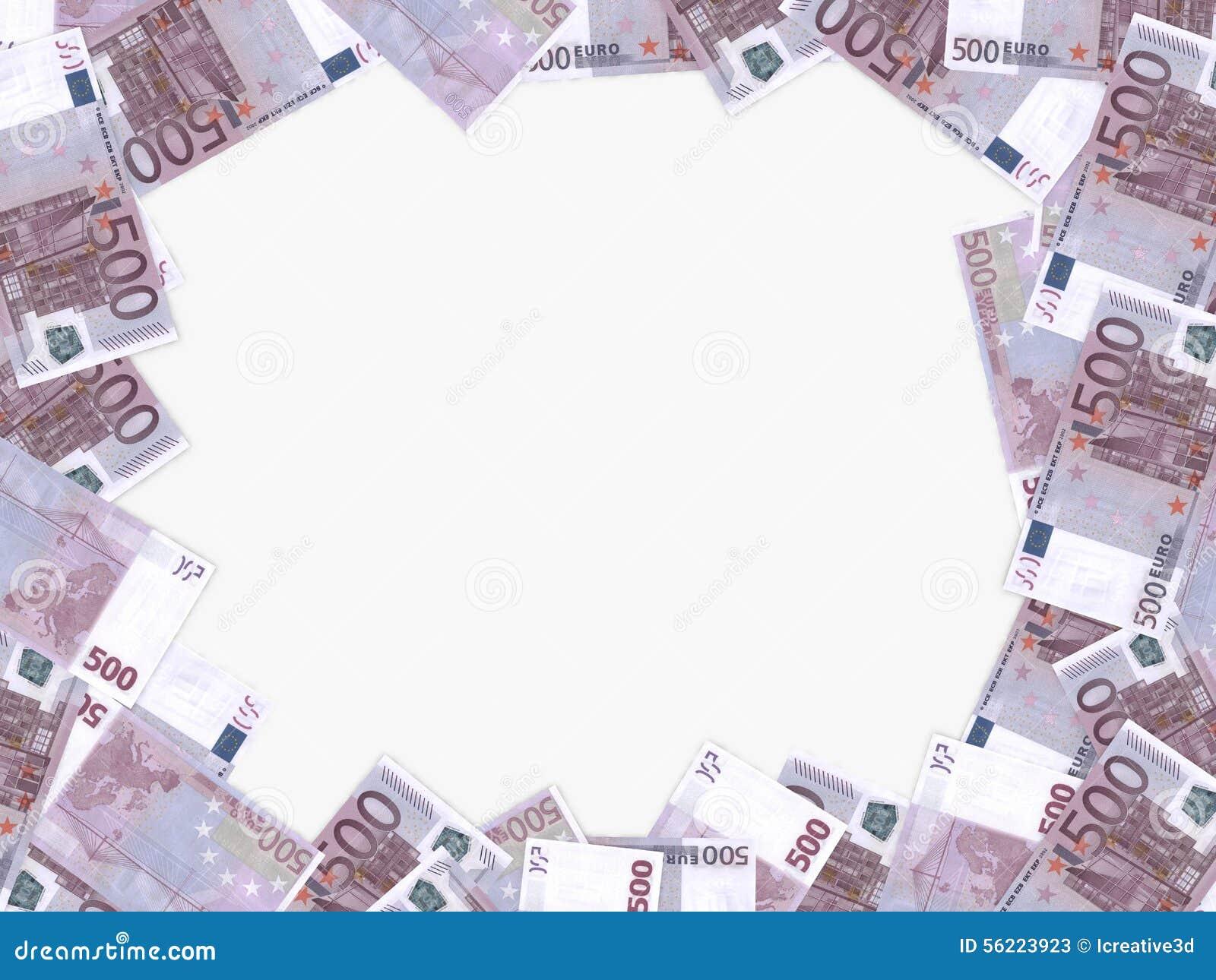 背景五颜六色的货币欧洲欧洲 五百欧元 3d例证.图片