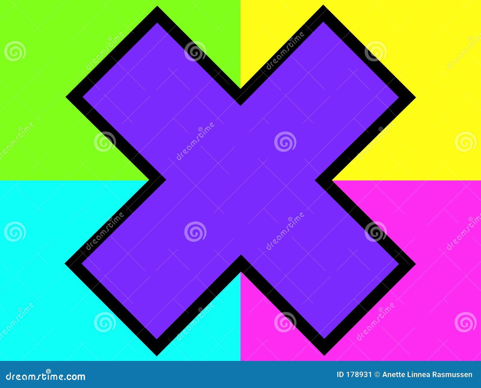 背景交叉紫色