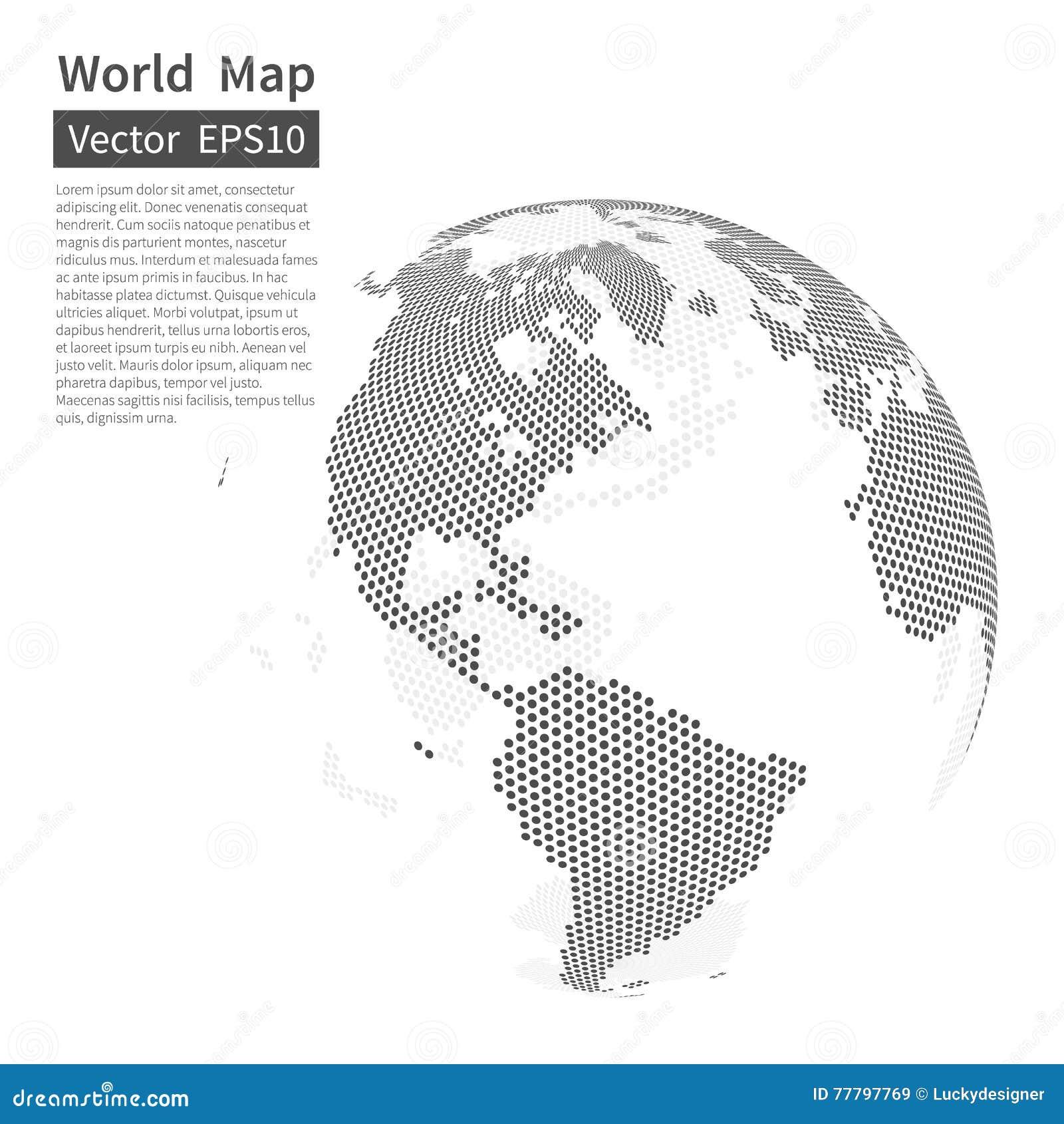背景加点的映射世界 接地地球 概念全球化查出的白色