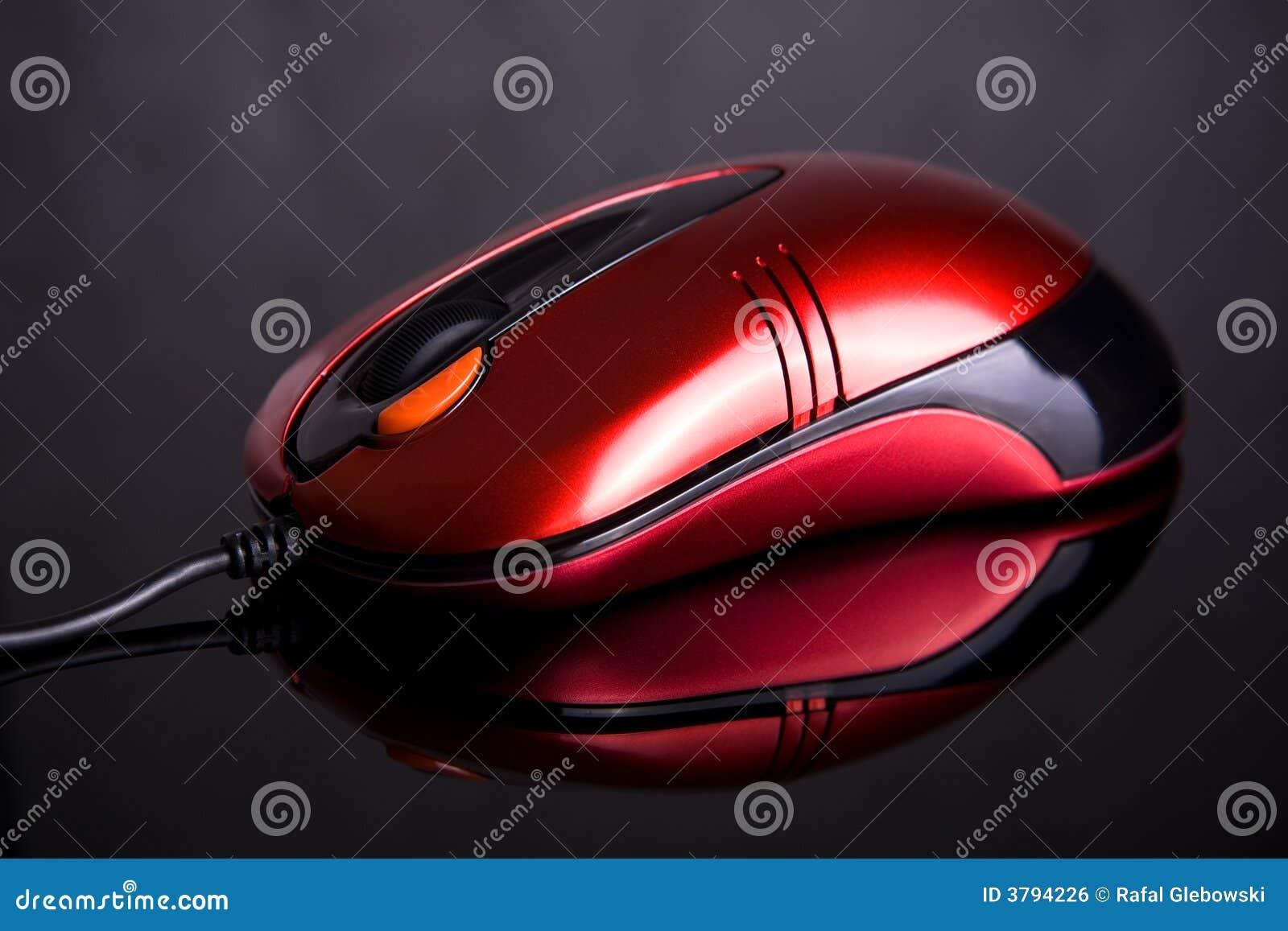 背景反射性计算机的鼠标