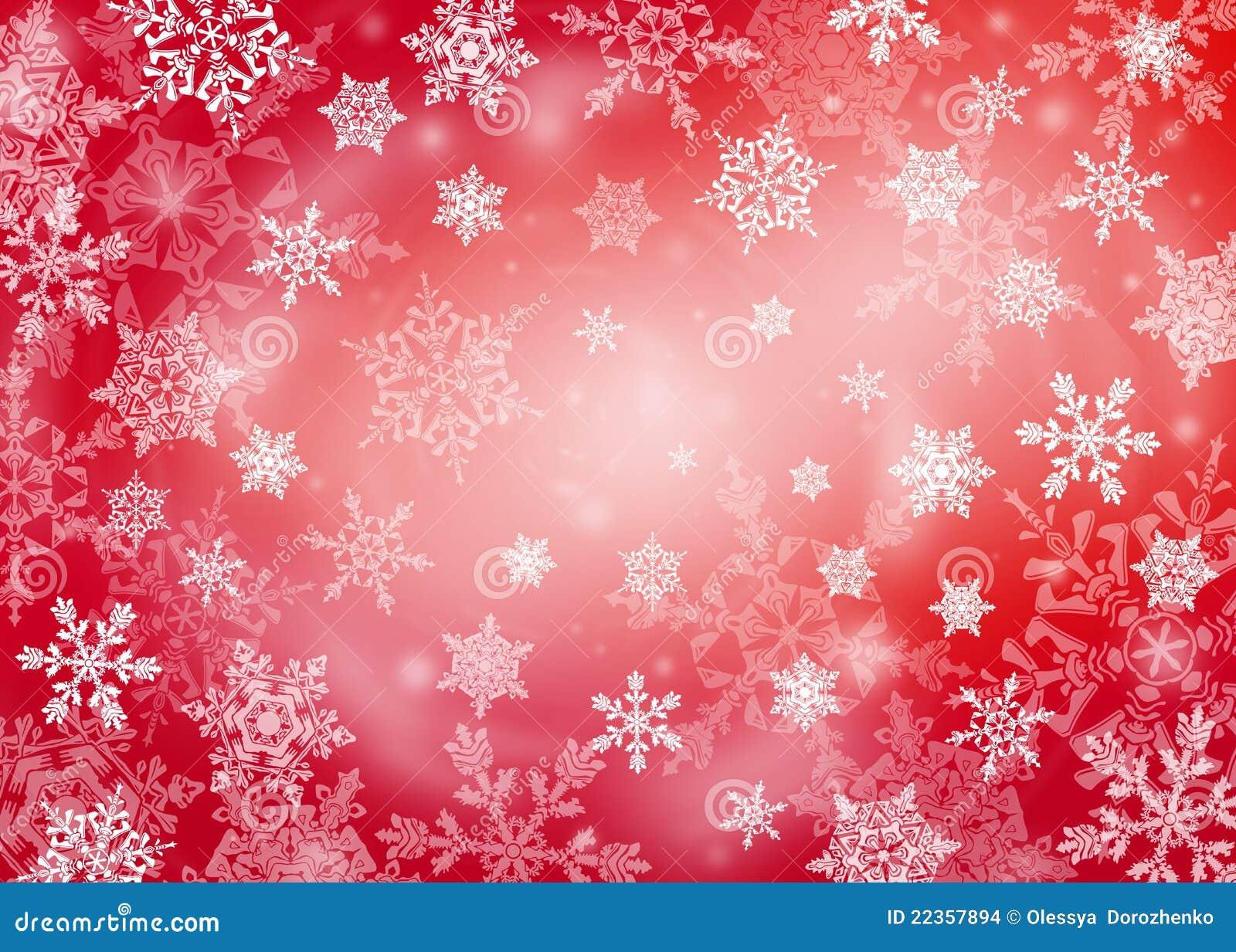 背景圣诞节红色雪花