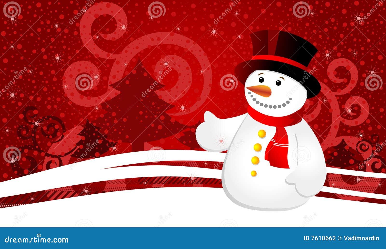 背景圣诞节雪花雪人