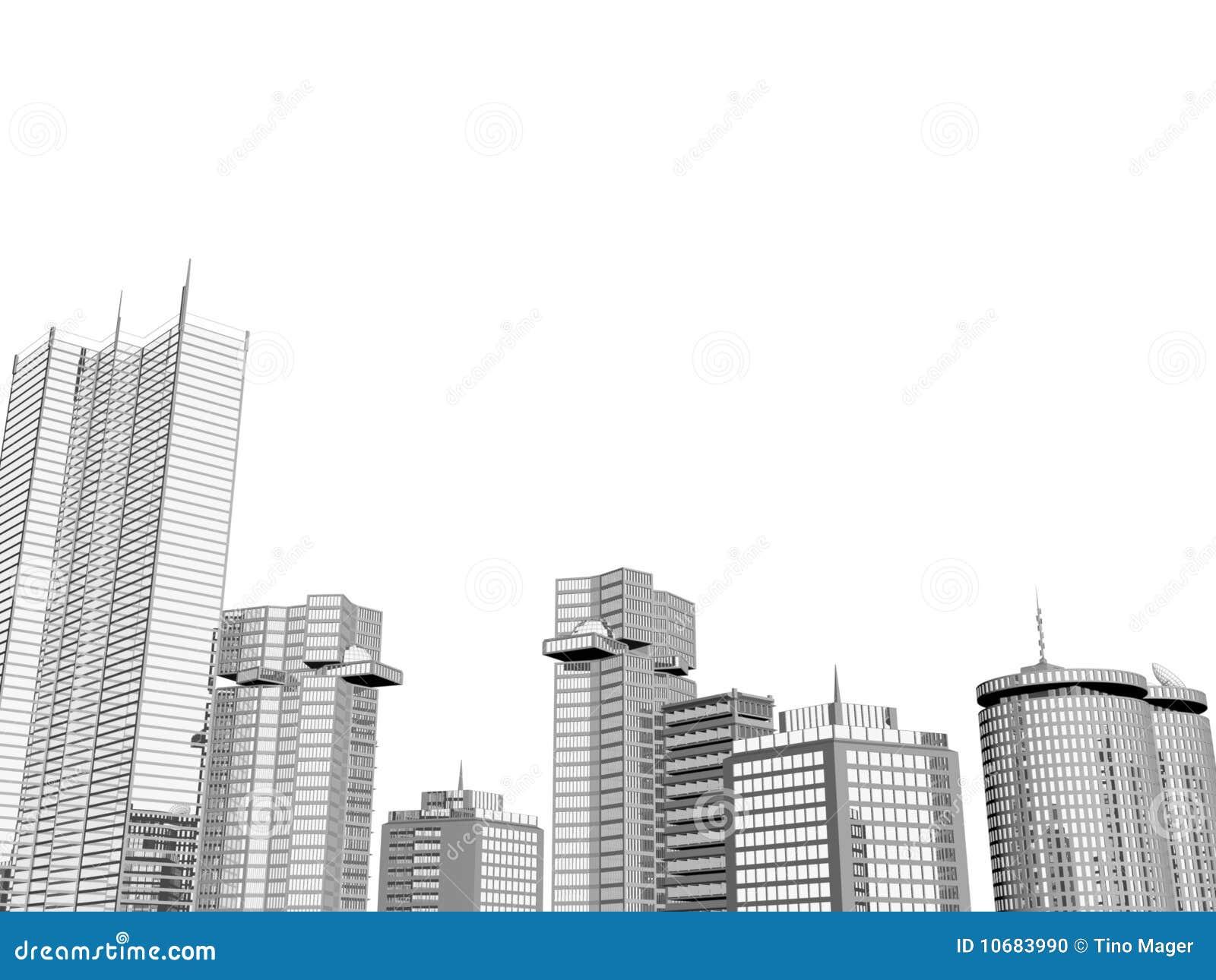 背景城市地平线