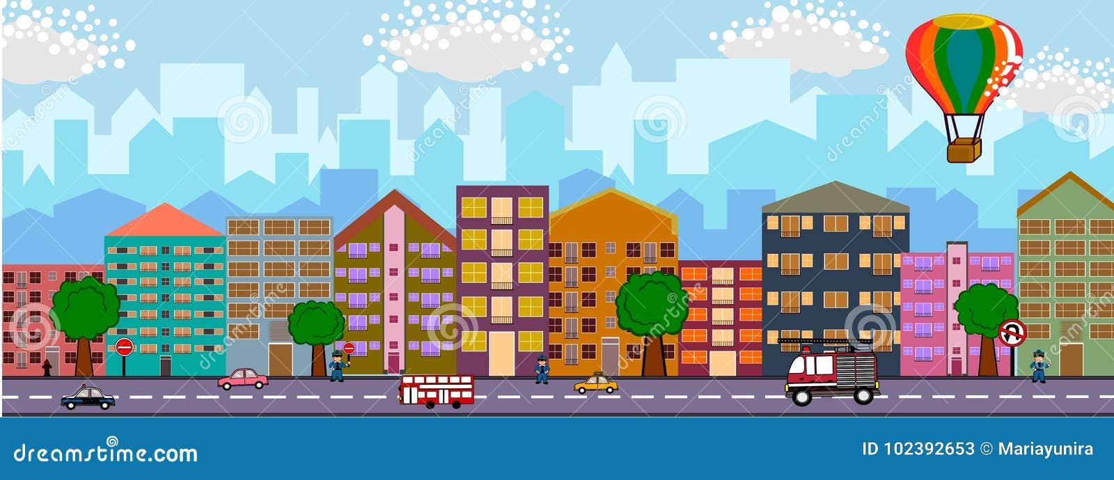 背景城市设计您地平线的向量