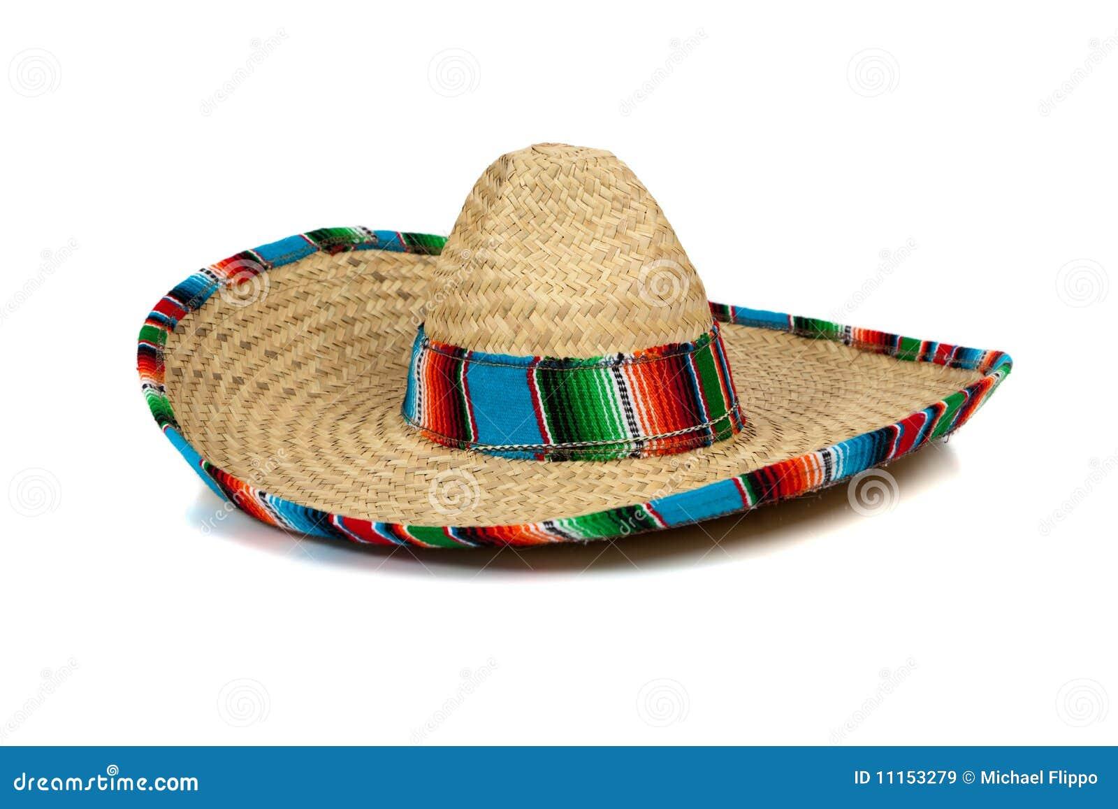 背景墨西哥阔边帽秸杆白色