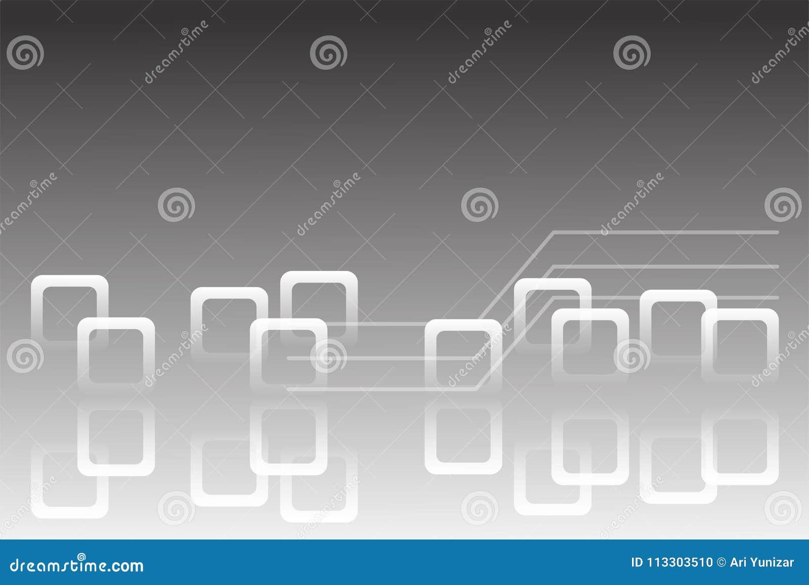 背景妖术moder techno艺术白色例证提取灰色极谱