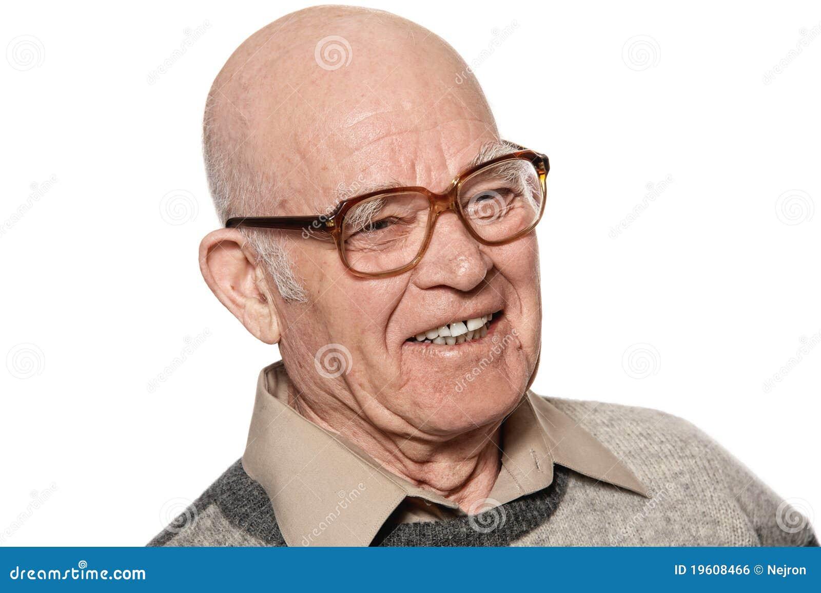 背景年长愉快的查出的人白色