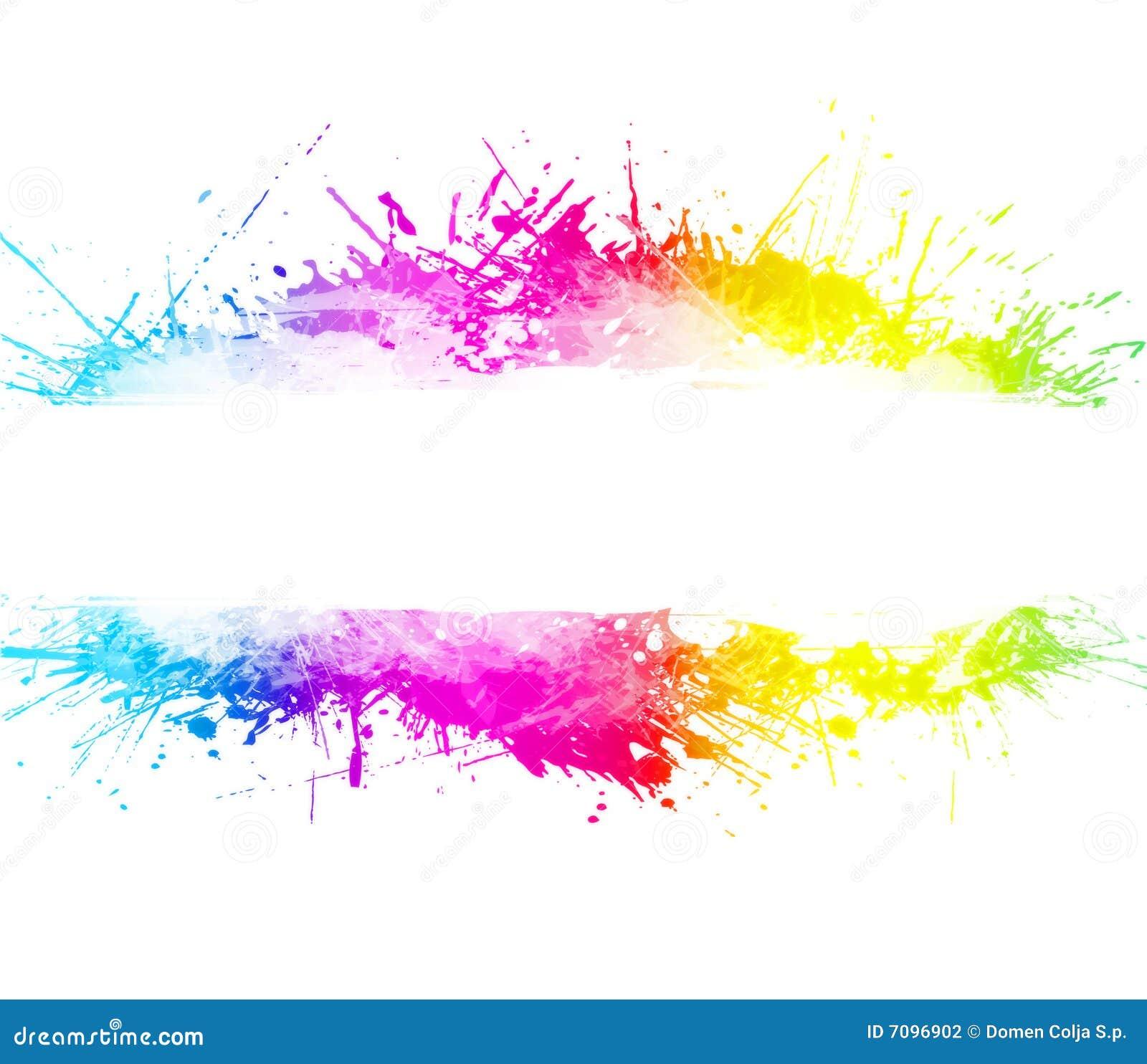 背景彩虹泼溅物被洗涤的水彩