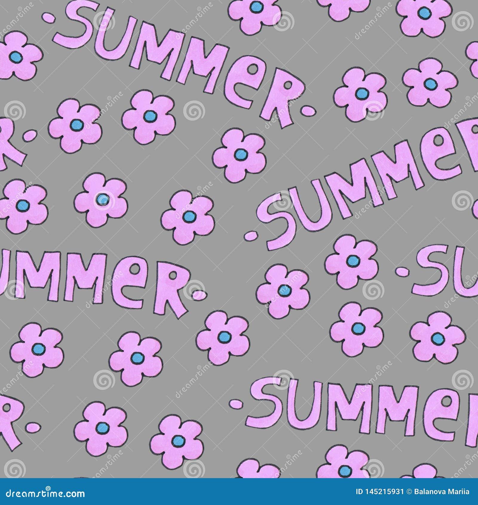 背景或包裹的桃红色夏天样式 与花的季节概念
