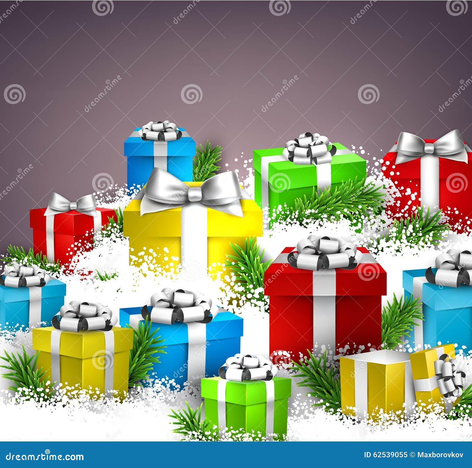 背景把圣诞节礼品装箱