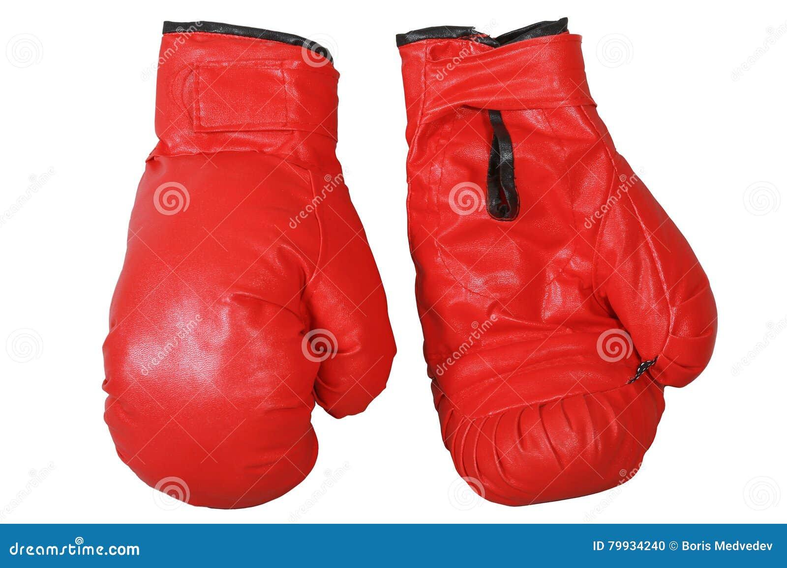 背景拳击手套查出红色白色
