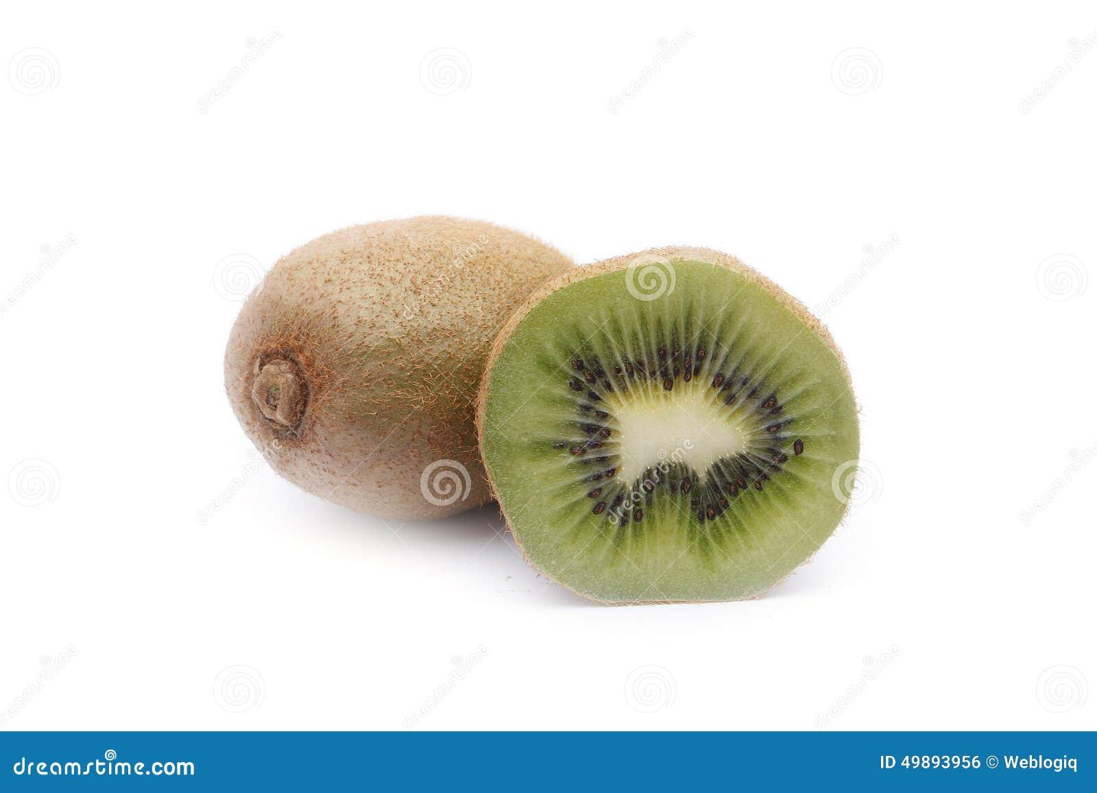 背景接近的果子查出在白色的猕猴桃