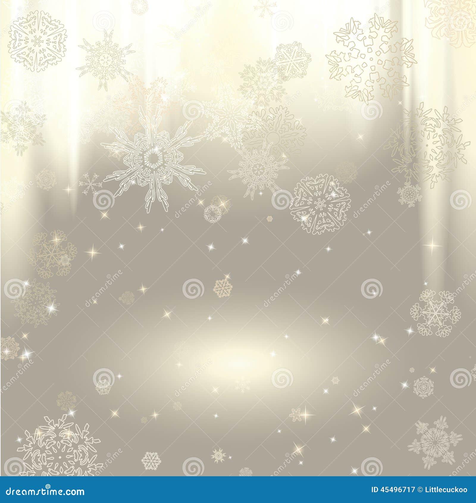 背景新的雪花年
