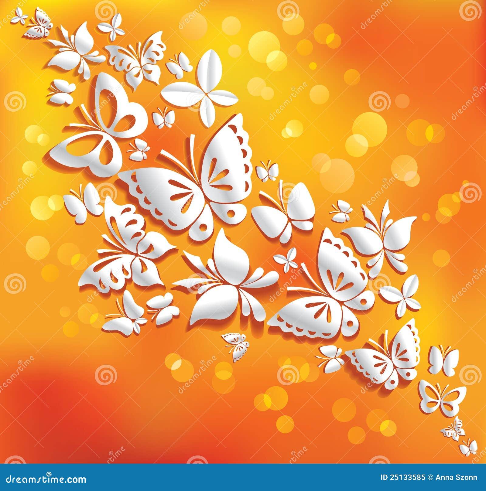 背景晴朗蝴蝶的origami