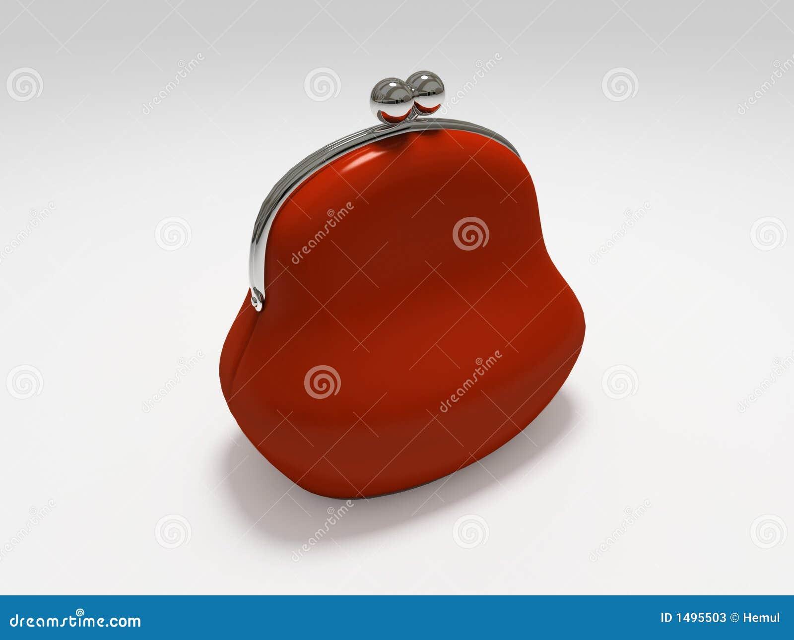 背景查出的钱包红色白色