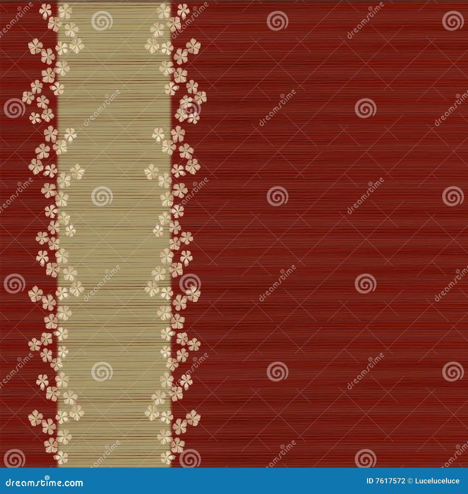 背景棒花卉菜单红色板条做