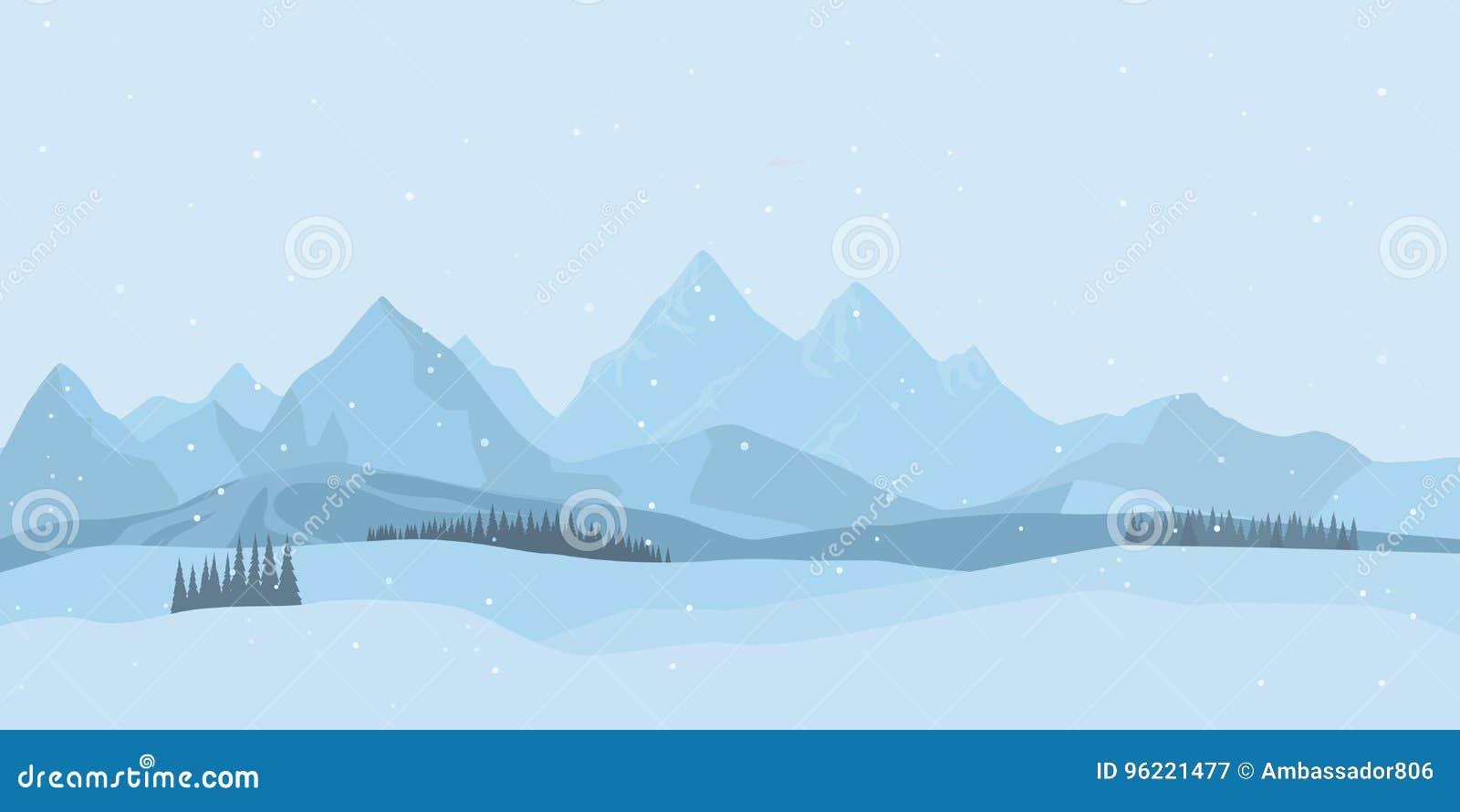 背景横向山西班牙白色冬天 向量