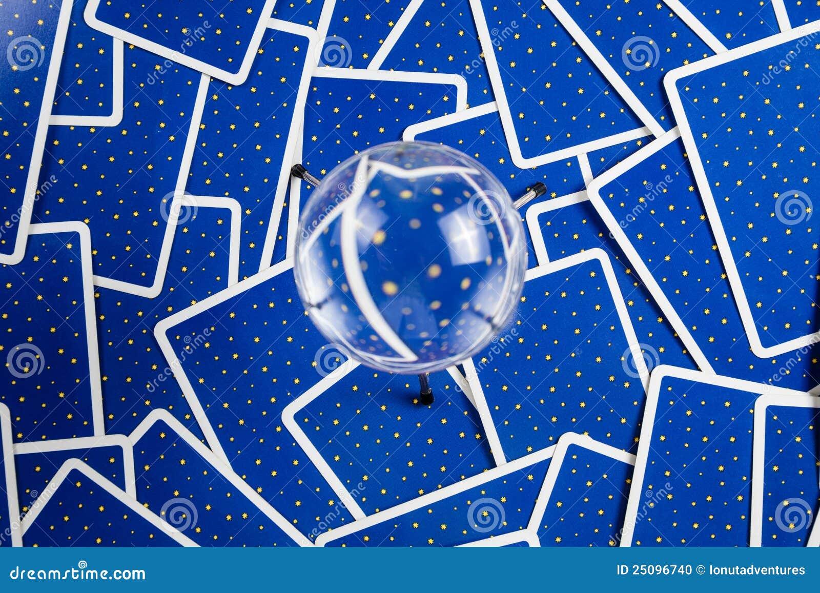 背景球拟订水晶tarot