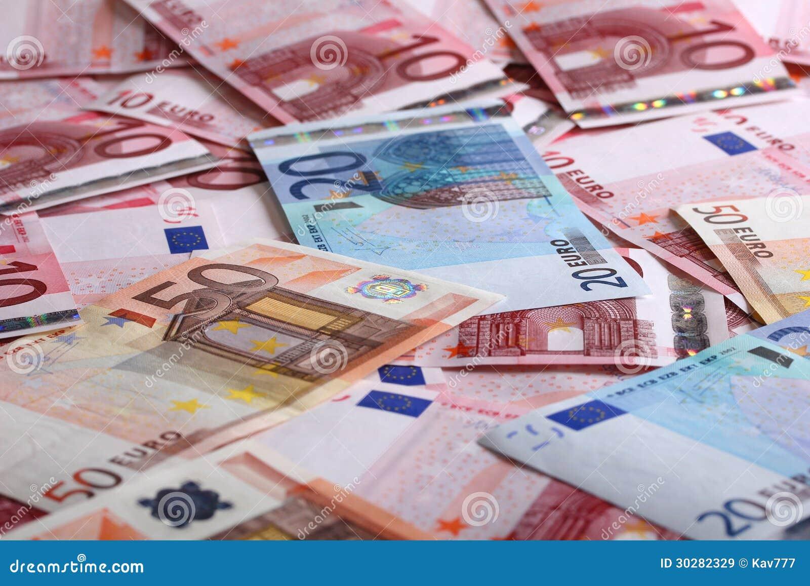 背景的很多欧元